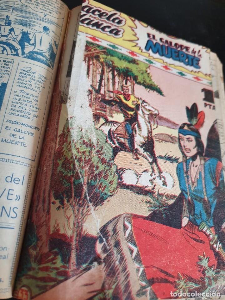 Tebeos: 1949 GACELA BLANCA -ORIGINAL- COMPLETA los 54 ejemplares - Foto 57 - 207229852