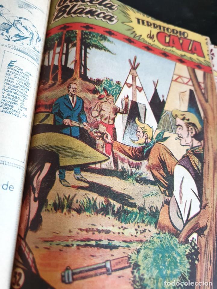 Tebeos: 1949 GACELA BLANCA -ORIGINAL- COMPLETA los 54 ejemplares - Foto 58 - 207229852