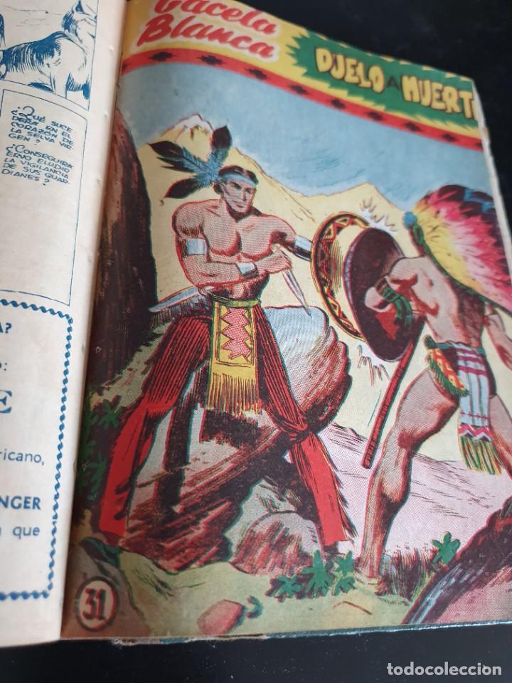 Tebeos: 1949 GACELA BLANCA -ORIGINAL- COMPLETA los 54 ejemplares - Foto 59 - 207229852