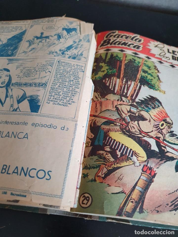 Tebeos: 1949 GACELA BLANCA -ORIGINAL- COMPLETA los 54 ejemplares - Foto 61 - 207229852