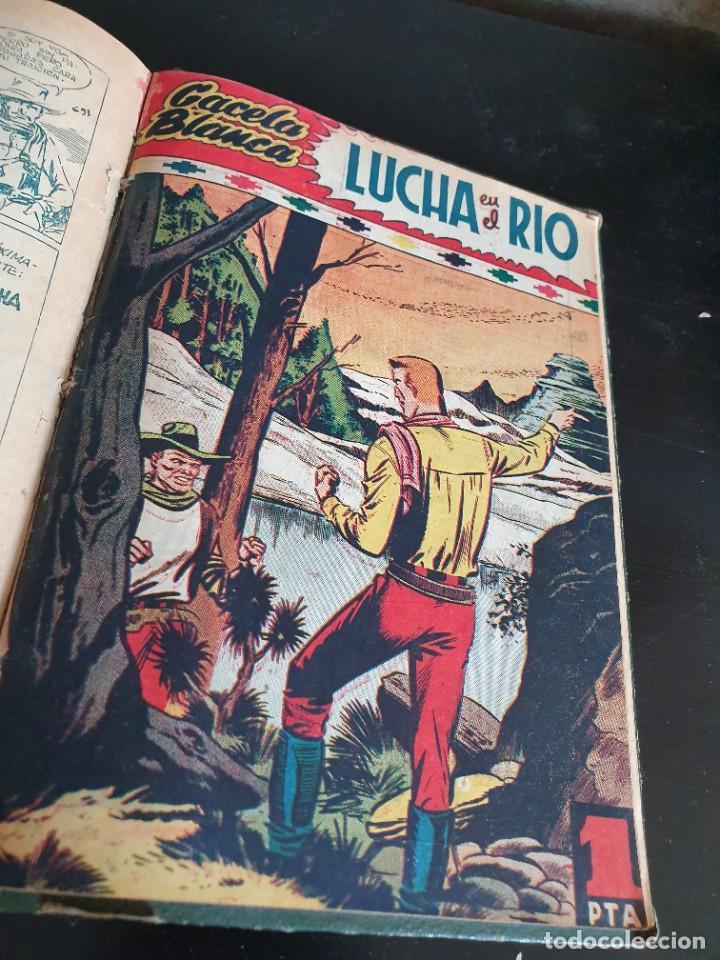 Tebeos: 1949 GACELA BLANCA -ORIGINAL- COMPLETA los 54 ejemplares - Foto 64 - 207229852
