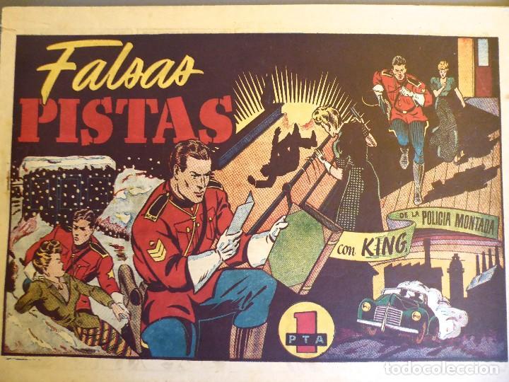 COM-232. KING DE LA POLICIA MONTADA. NÚMERO 12. FALSAS PISTAS. HISPANO AMERICANA. ORIGINAL. (Tebeos y Comics - Hispano Americana - Otros)