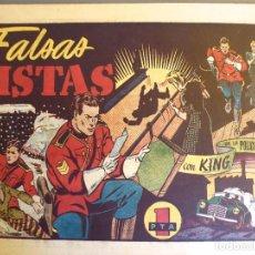 Tebeos: COM-232. KING DE LA POLICIA MONTADA. NÚMERO 12. FALSAS PISTAS. HISPANO AMERICANA. ORIGINAL.. Lote 207780570