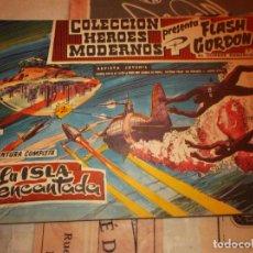 Tebeos: COLECCION HEROES MODERNOS FLASH GORDON Y EL HOMBRE ENMASCARADO Nº 9, LA ISLA ENCANTADO. Lote 207816277