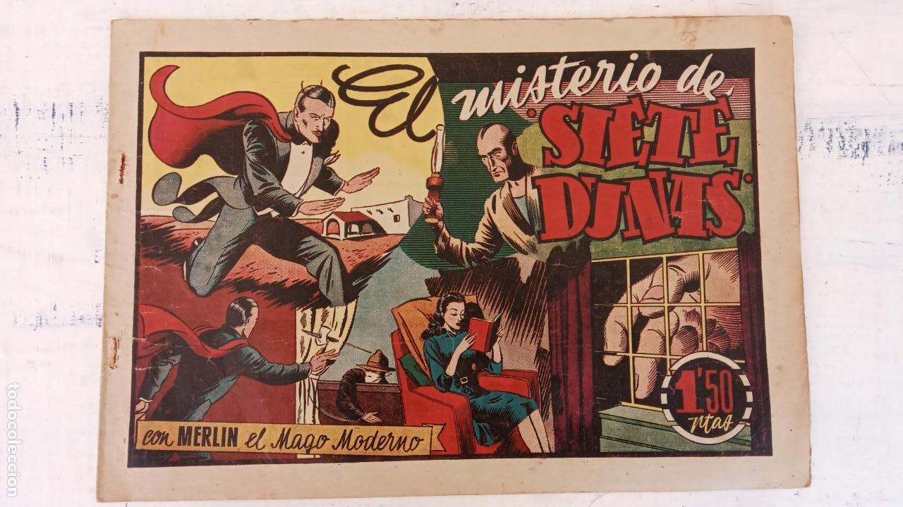 MERLIN EL MAGO MODERNO ORIGINAL - EL MISTERIO DE SIETE DUNAS- HISPANOAMERICANA AÑOS 40 (Tebeos y Comics - Hispano Americana - Merlín)