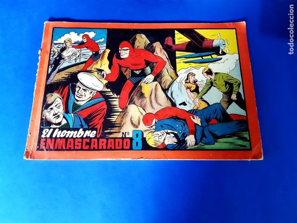 EL HOMBRE ENMASCARADO-TOMO ROJO Nº 8 H.AMERICANA-32 X 22 (Tebeos y Comics - Hispano Americana - Hombre Enmascarado)
