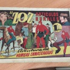 Tebeos: HOMBRE ENMASCARADO ZOZ ARTICULOS RURALES (ORIGINAL HISPANO AMERICANA) (COIB98). Lote 210434463