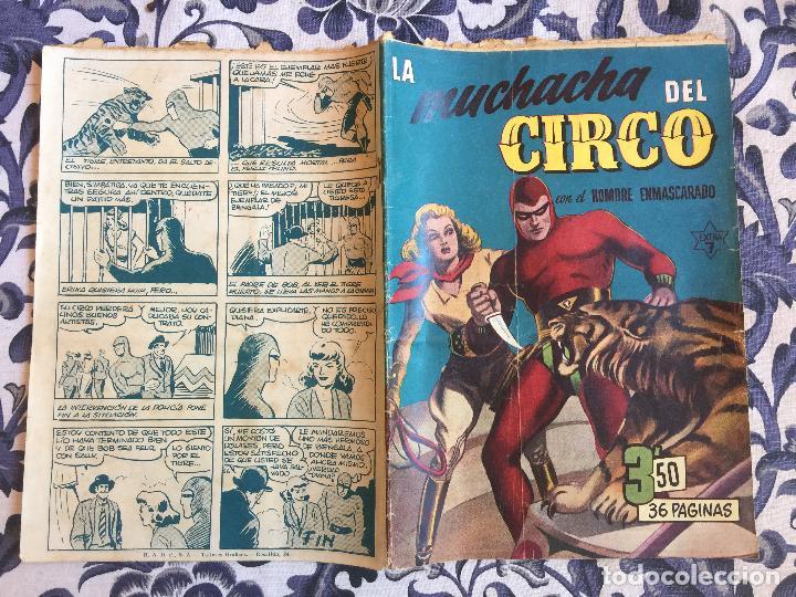 LA MUCHACHA DEL CIRCO CON EL HOMBRE ENMASCARADO - HISPANO AMERICANA - DIFICIL (Tebeos y Comics - Hispano Americana - Hombre Enmascarado)