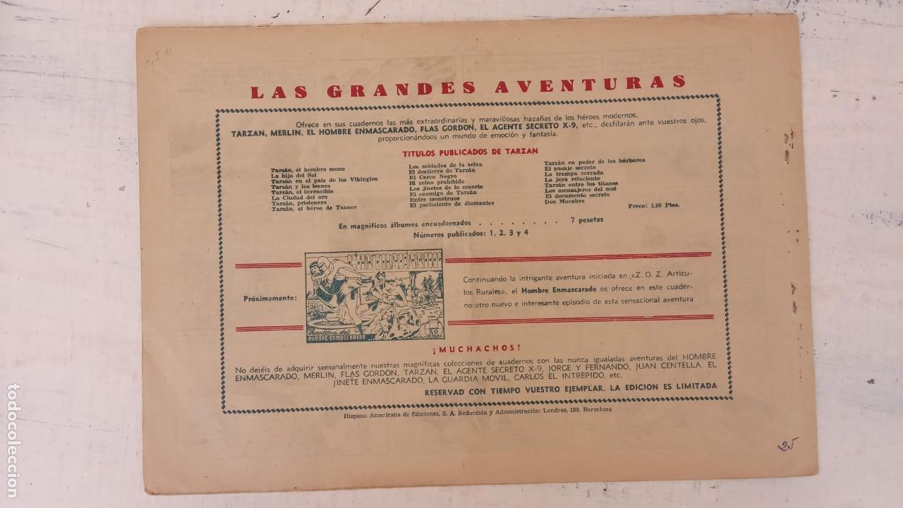 Tebeos: TARZAN EL HOMBRE MONO Nº 25 EL JARDIN DE LA MUERTE - ORIGINAL HISPANO AMERICANA - Foto 2 - 212303782