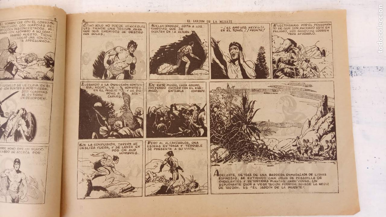 Tebeos: TARZAN EL HOMBRE MONO Nº 25 EL JARDIN DE LA MUERTE - ORIGINAL HISPANO AMERICANA - Foto 4 - 212303782