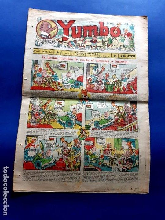 YUMBO Nº 65 -FORMATO GRANDE-1934 (Tebeos y Comics - Hispano Americana - Yumbo)