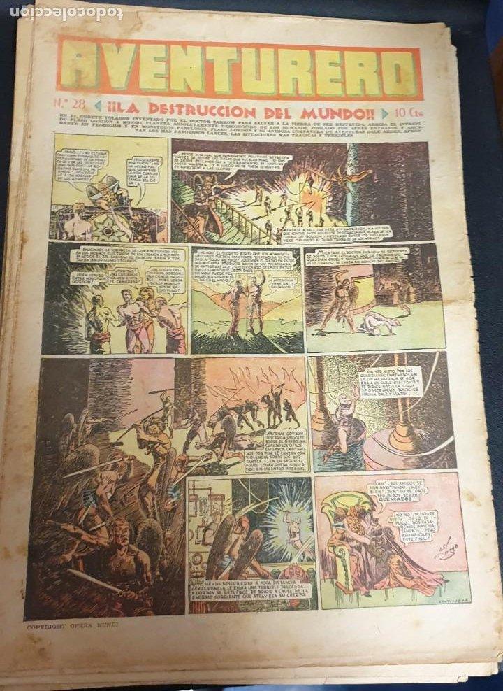 AVENTURERO ¡LA DESTRUCCIÓN DEL MUNDO! Nº 28 19 NOVIEMBRE 1935 (Tebeos y Comics - Hispano Americana - Aventurero)