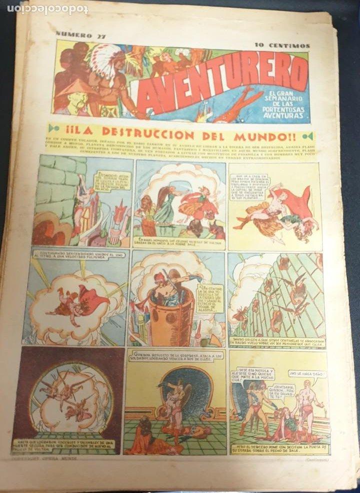 AVENTURERO ¡LA DESTRUCCIÓN DEL MUNDO! Nº 27 12 NOVIEMBRE 1935 (Tebeos y Comics - Hispano Americana - Aventurero)