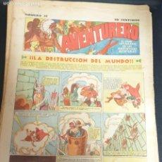 Tebeos: AVENTURERO ¡LA DESTRUCCIÓN DEL MUNDO! Nº 27 12 NOVIEMBRE 1935. Lote 215558027