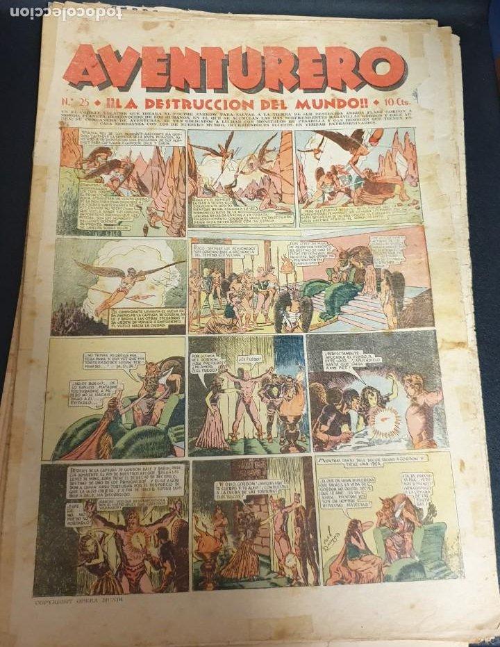 AVENTURERO ¡LA DESTRUCCIÓN DEL MUNDO! Nº 25 29 OCTUBRE 1935 (Tebeos y Comics - Hispano Americana - Aventurero)