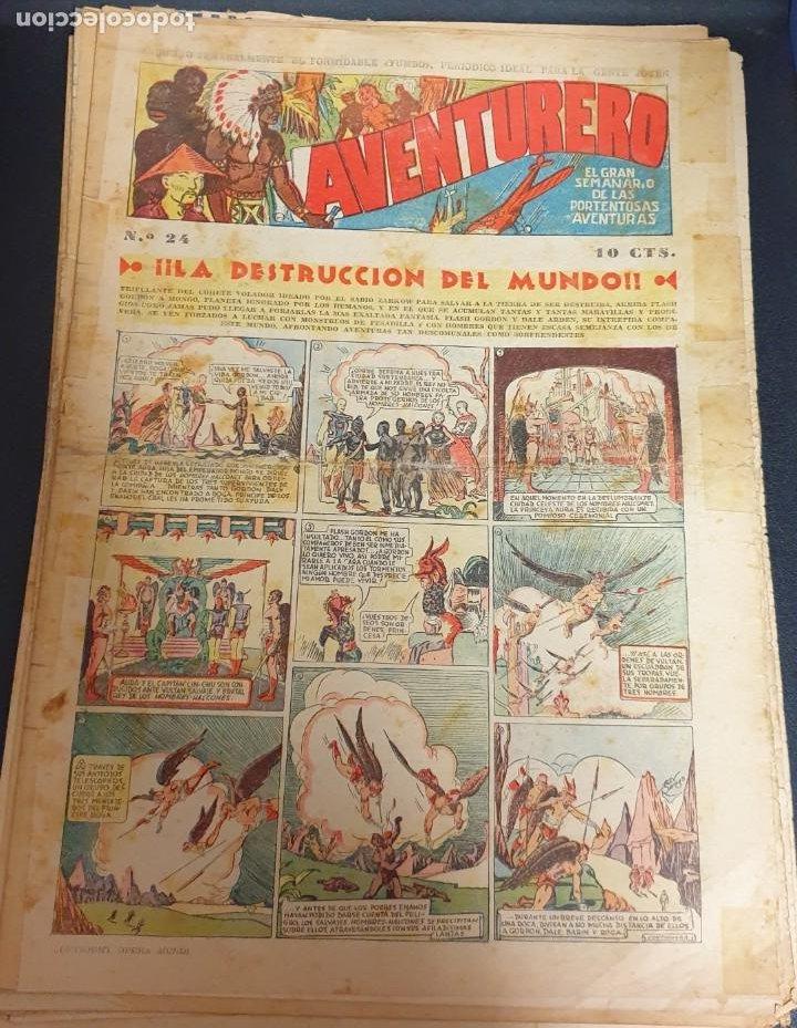 AVENTURERO ¡LA DESTRUCCIÓN DEL MUNDO! Nº 24 22 OCTUBRE 1935 (Tebeos y Comics - Hispano Americana - Aventurero)