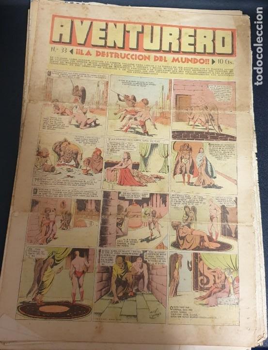AVENTURERO ¡LA DESTRUCCIÓN DEL MUNDO! Nº 33 23 DICIEMBRE 1935 (Tebeos y Comics - Hispano Americana - Aventurero)