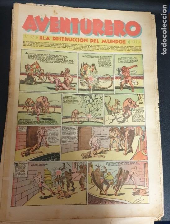 AVENTURERO ¡LA DESTRUCCIÓN DEL MUNDO! Nº 32 17 DICIEMBRE 1935 (Tebeos y Comics - Hispano Americana - Aventurero)