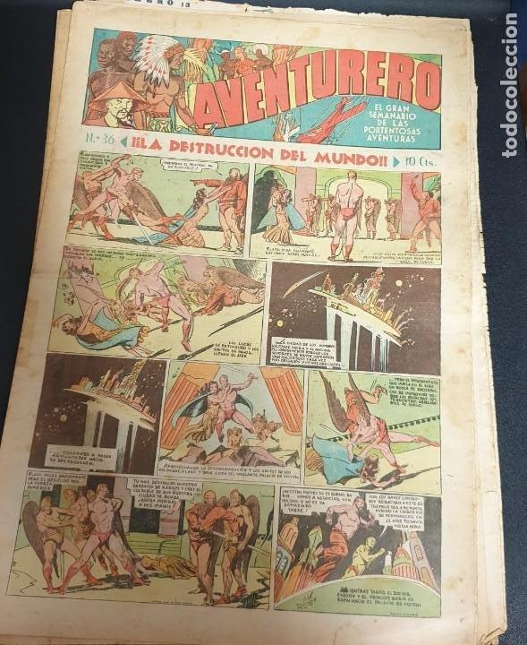 AVENTURERO ¡LA DESTRUCCIÓN DEL MUNDO! Nº 36 14 ENERO 1936 (Tebeos y Comics - Hispano Americana - Aventurero)