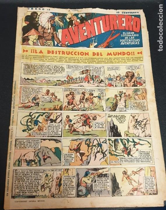 AVENTURERO ¡LA DESTRUCCIÓN DEL MUNDO! Nº 13 6 AGOSTO 1935 (Tebeos y Comics - Hispano Americana - Aventurero)