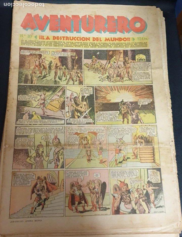 AVENTURERO ¡LA DESTRUCCIÓN DEL MUNDO! Nº 30 3 DICIEMBRE 1935 (Tebeos y Comics - Hispano Americana - Aventurero)