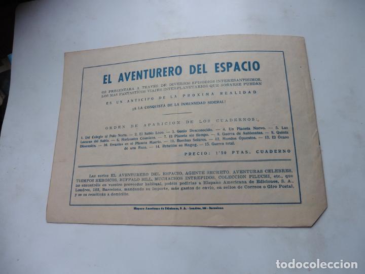 Tebeos: EL AVENTURERO DEL ESPACIO Nº 12 ORIGINAL HISPANOAMERICANA - Foto 2 - 217198156