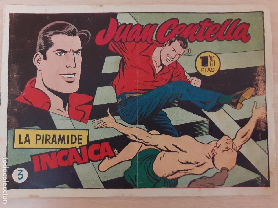 JUAN CENTELLA Nº 3. LA PIRÁMIDE INCAICA. EDITA HISPANO AMERICANA. 1,25 PTAS. (Tebeos y Comics - Hispano Americana - Juan Centella)