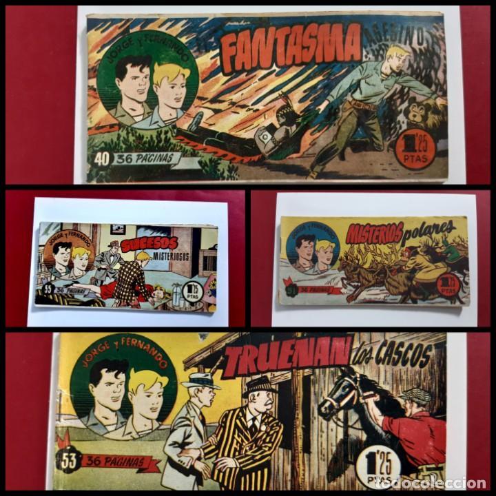 JORGE Y FERNANDO Nº 40-51-53-55 -HISPANO AMERICANA-ORIGINALES (Tebeos y Comics - Hispano Americana - Jorge y Fernando)