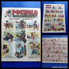 Tebeos: POCHOLO Nº 13 -HISPANO AMERICANA- MUY DIFICIL-EXCELENTE ESTADO. Lote 217910326