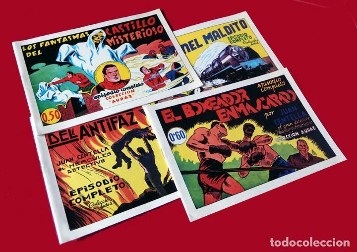 Tebeos: JUAN CENTELLA, LOTE 4 EJEMPLARES Nº 1, 2, 3 y 4. TAMAÑO GRANDE, COLEC. AUDAZ, REEDICIÓN 1980. NUEVOS - Foto 2 - 218134178