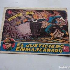 Tebeos: EL JUSTICIERO ENMASCARADO Nº 17 HISPANO AMERICANA ORIGINAL. Lote 218172033