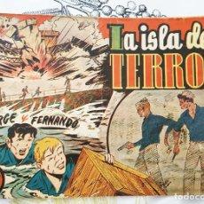 Tebeos: JORGE Y FERNANDO N.º 63 LA ISLA DEL TERROR HISPANO AMERICANA 1940 ORIGINAL DE EPOCA. Lote 218341332