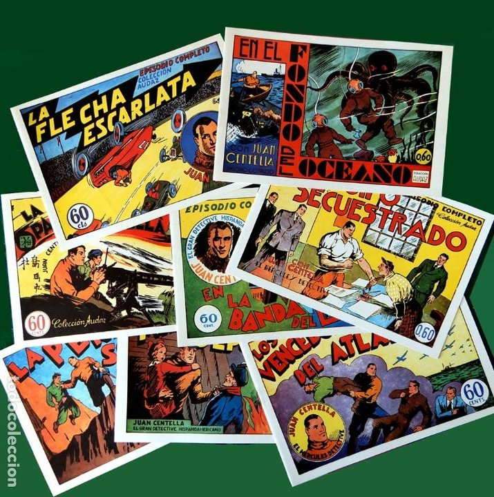 JUAN CENTELLA, - LOTE 8 EJEMPLARES; Nº 5-6-7-8-9-10-11-12. , COLEC. AUDAZ, REEDICIÓN 1980. NUEVOS (Tebeos y Comics - Hispano Americana - Juan Centella)