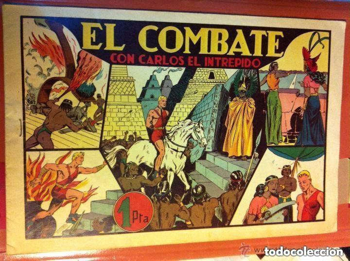 CARLOS EL INTRÉPIDO - EL COMBATE- MUY BIEN CONSERVADO (Tebeos y Comics - Hispano Americana - Carlos el Intrépido)