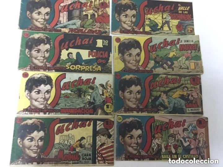 SUCHAI- LOTE DE 8 EJEMPLARES - NUM. 126 AL 132 Y 134 --- UNO: 3€ (Tebeos y Comics - Hispano Americana - Suchai)