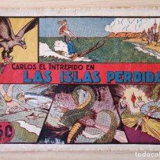 Tebeos: CARLOS EL INTRÉPIDO Nº 1: LAS ISLAS PERDIDAS (HISPANO AMERICANA, 1942). Lote 219695202