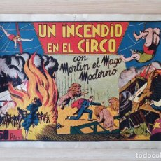 Tebeos: MERLIN EL MAGO MODERNO Nº 1 UN INCENDIO EN EL CIRCO HISPANO AMERICANA. Lote 219716916