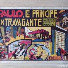 Tebeos: MERLIN EL REY DE LA MAGIA. PAULO,EL PRINCIPE EXTRAVAGANTE. HISPANO AMERICANA. Lote 219717495