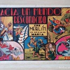 Tebeos: MERLIN EL REY DE LA MAGIA Nº 3 HACIA UN MUNDO DESCONOCIDO HISPANO AMERICANA. Lote 219718023