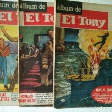 BDs: LOTE DE 3 ALBUNES ANTIGUOS DE EL TONY-EDITORIAL COLUMBA 1961. Lote 219891460