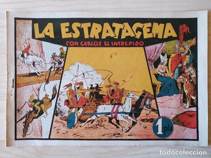 LA ESTRATAGEMA - CARLOS EL INTREPIDO - ORIGINAL (EDITORIAL HISPANO AMERICANA) (Tebeos y Comics - Hispano Americana - Carlos el Intrépido)