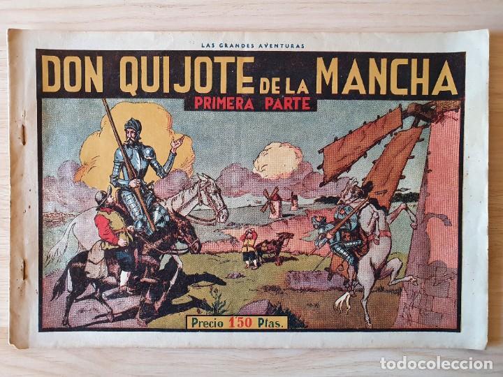 DON QUIJOTE DE LA MANCHA (PRIMERA Y SEGUNDA PARTE) - ORIGINAL HISPANO AMERICANA (Tebeos y Comics - Hispano Americana - Aventurero)