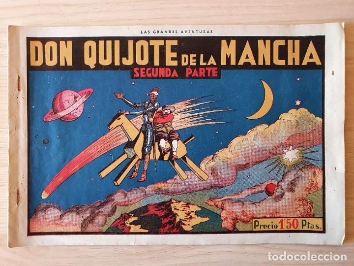Tebeos: DON QUIJOTE DE LA MANCHA (PRIMERA Y SEGUNDA PARTE) - ORIGINAL HISPANO AMERICANA - Foto 4 - 220259763