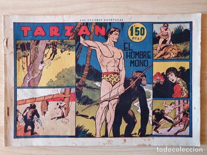 TARZAN - Nº 1, EL HOMBRE MONO - HISPANO AMERICANA - ORIGINAL (Tebeos y Comics - Hispano Americana - Tarzán)