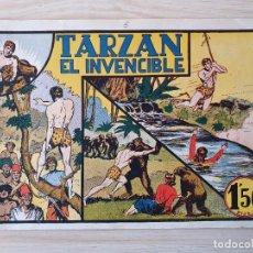 Tebeos: TARZAN - Nº 5, TARZAN EL INVENCIBLE - HISPANO AMERICANA - ORIGINAL. Lote 220264582