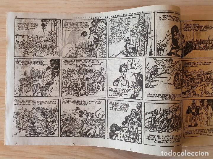 Tebeos: TARZAN - Nº 8, EL HEROE DE TAANOR - HISPANO AMERICANA - ORIGINAL - Foto 2 - 220265836