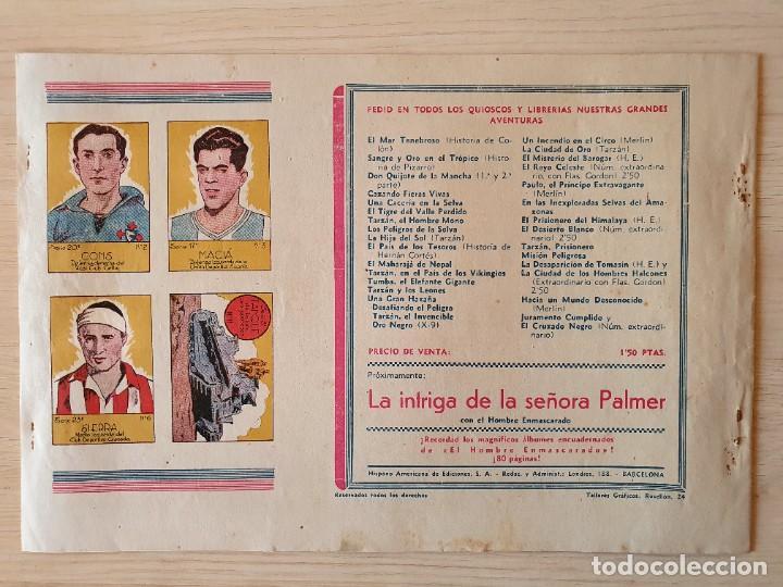 Tebeos: TARZAN - Nº 8, EL HEROE DE TAANOR - HISPANO AMERICANA - ORIGINAL - Foto 3 - 220265836