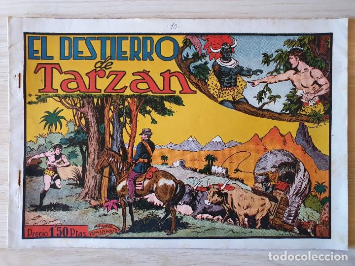 TARZAN - Nº 10, EL DESTIERRO DE TARZAN - HISPANO AMERICANA - ORIGINAL (Tebeos y Comics - Hispano Americana - Tarzán)