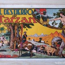 Tebeos: TARZAN - Nº 10, EL DESTIERRO DE TARZAN - HISPANO AMERICANA - ORIGINAL. Lote 220266516