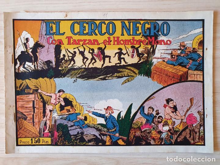 TARZAN - Nº 11, EL CERCO NEGRO - HISPANO AMERICANA - ORIGINAL (Tebeos y Comics - Hispano Americana - Tarzán)